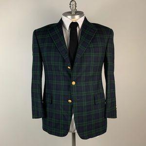 Tommy Hilfiger Blazer - Check Wool Green Mens 42S